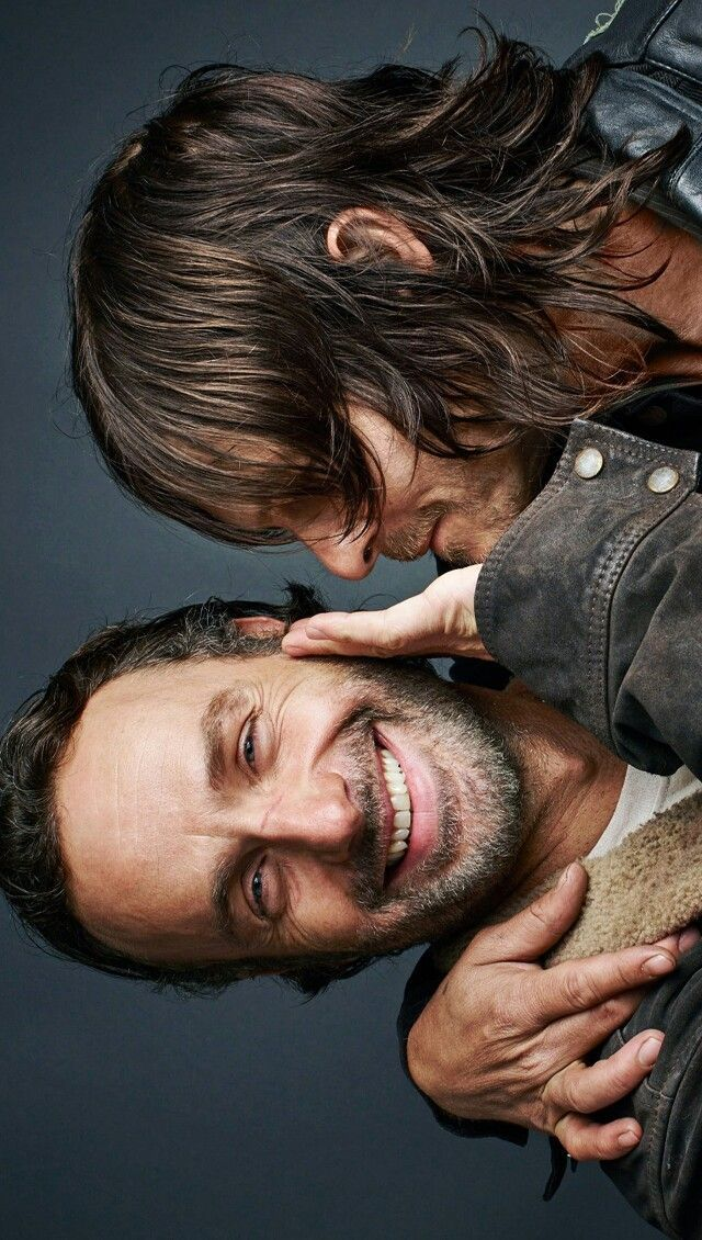 RICK GRIMES AND DARYL DIXON SMILING