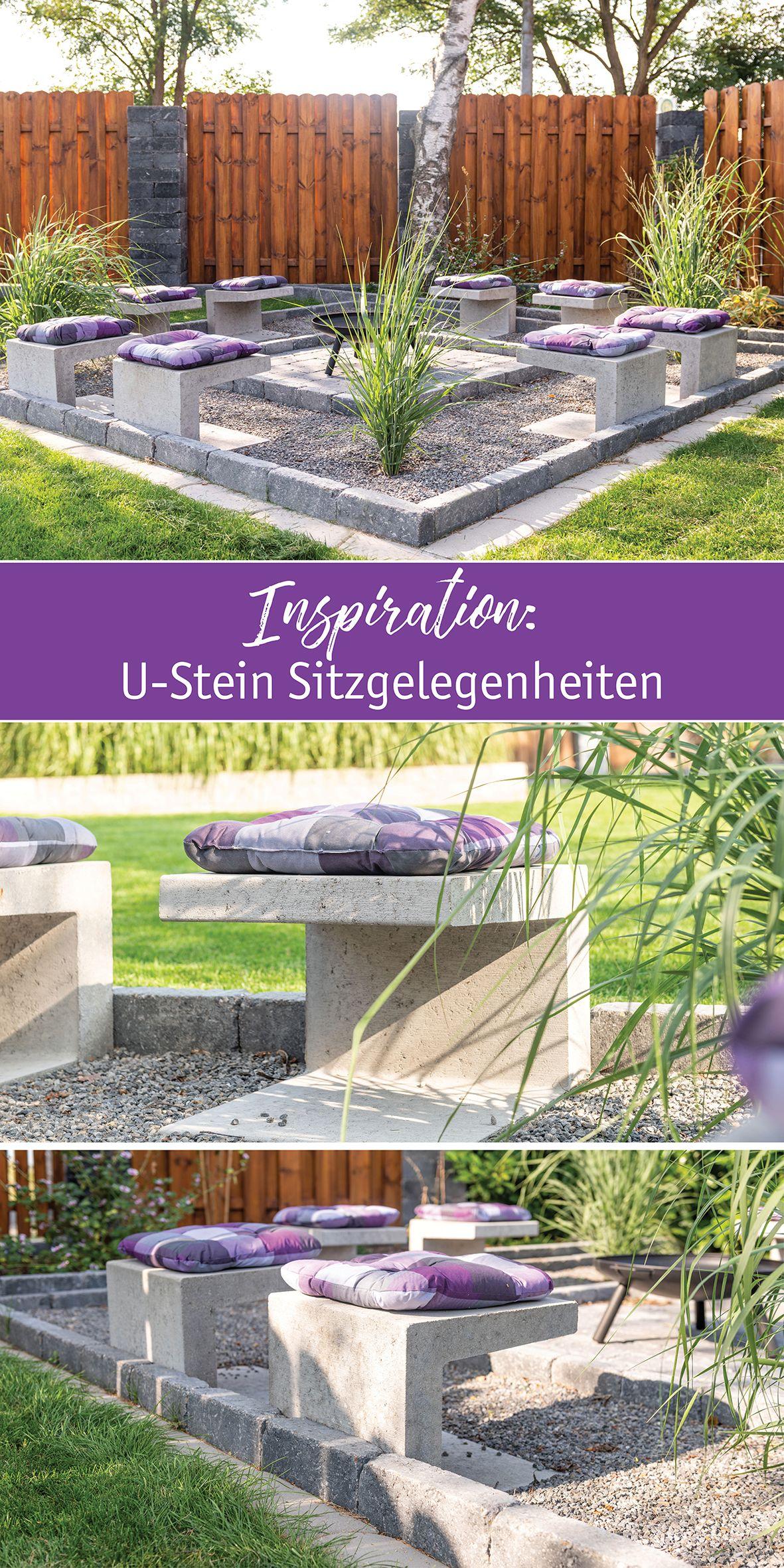 DIY U Steine als Sitzgelegenheit   Sitzecken garten, Garten ...