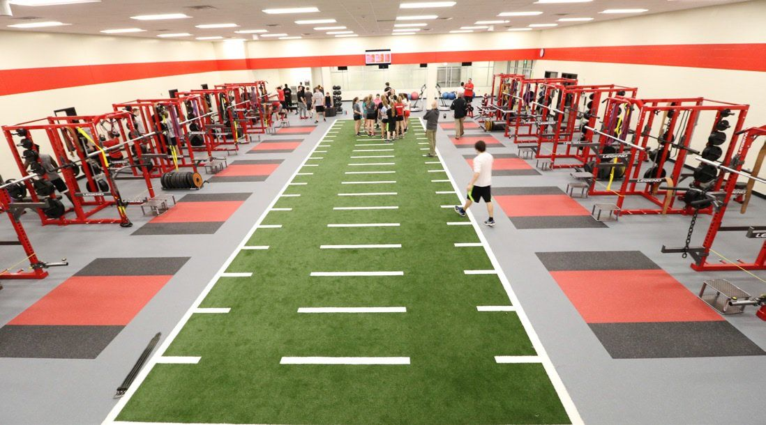 Image result for weight room workout football turf High
