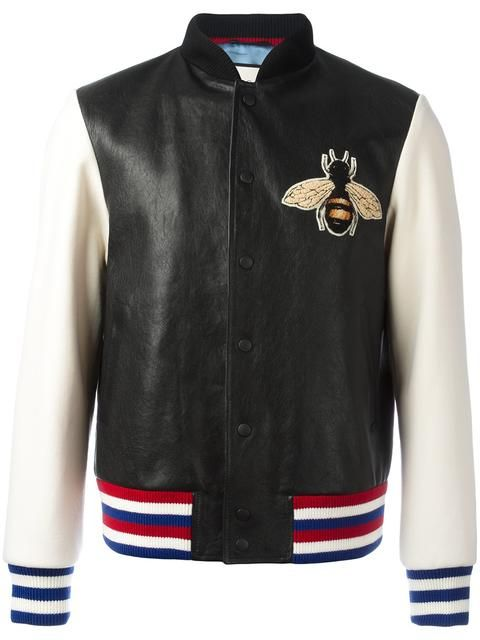541017bcd Gucci bee appliqué bomber jacket | appliques / embroidery in 2019 ...