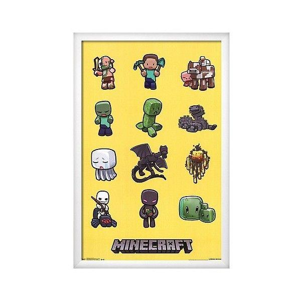 Art.com Minecraft Characters Framed Poster, Variation Parent ($180 ...