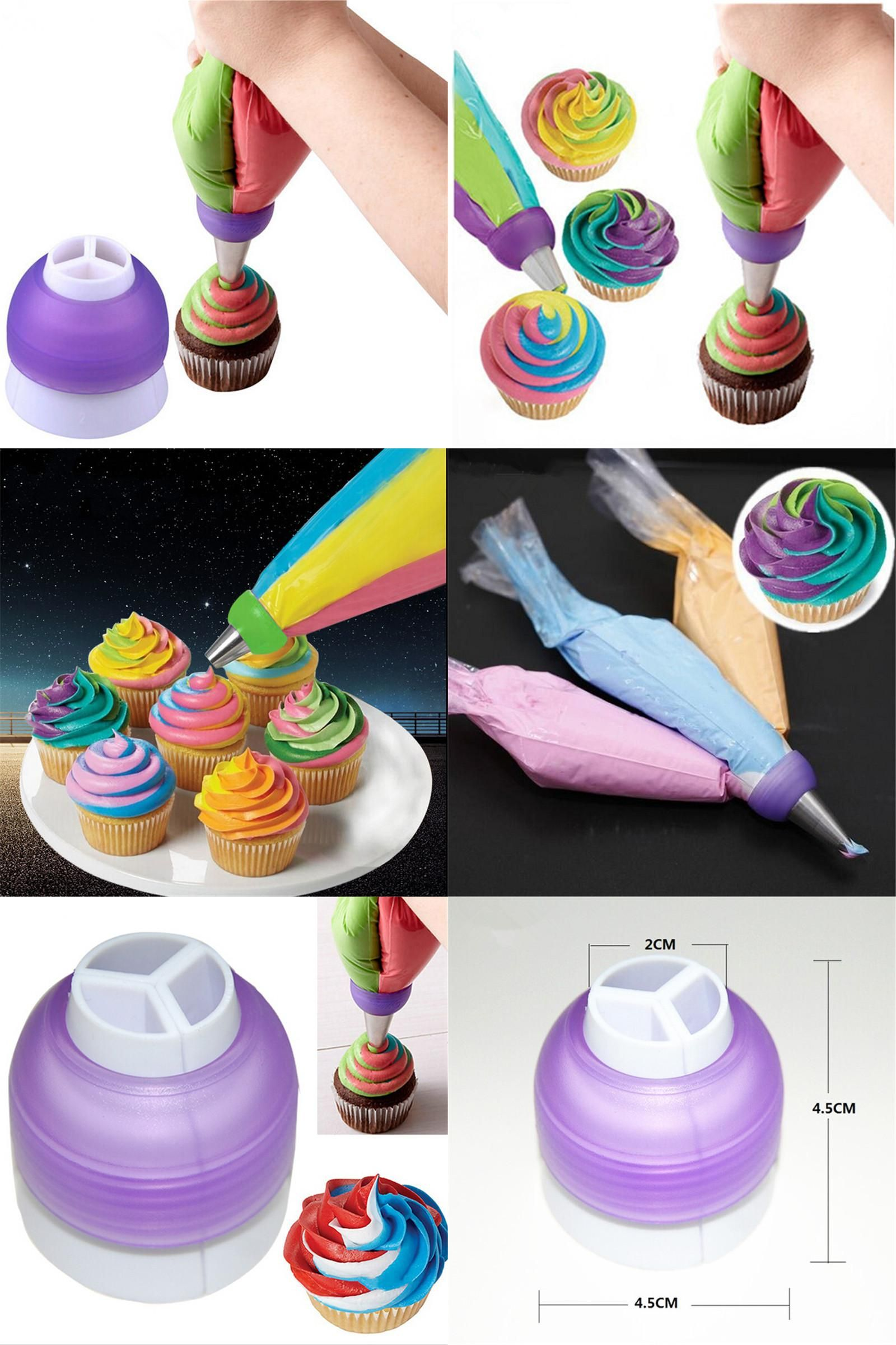 Visit to Buy] Icing Piping Nozzles Tube Adaptor Converter Cream Cake ...