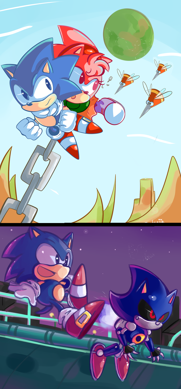 Sonic CD Contest:  by Fumuu deviantart com on @deviantART | <3 Geek
