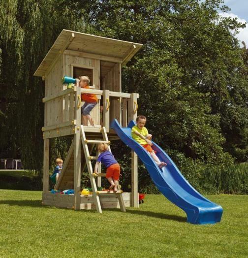 Parques infantiles columpios toboganes casitas - Columpios de madera para jardin ...