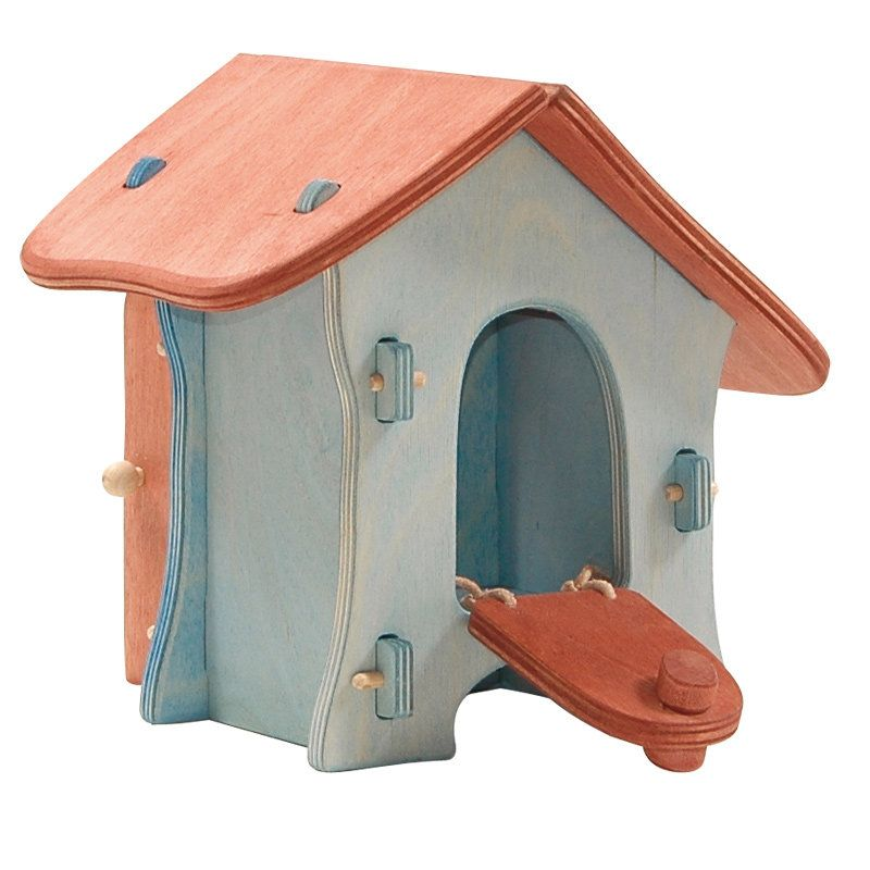 Here is the perfect wooden chook housefor your Ostheimer hens. With graceful curving lines in warm blue and browntones,...