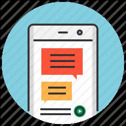 App Bubble Chat Message Messenger Mobile Talk Icon App Icon Messages