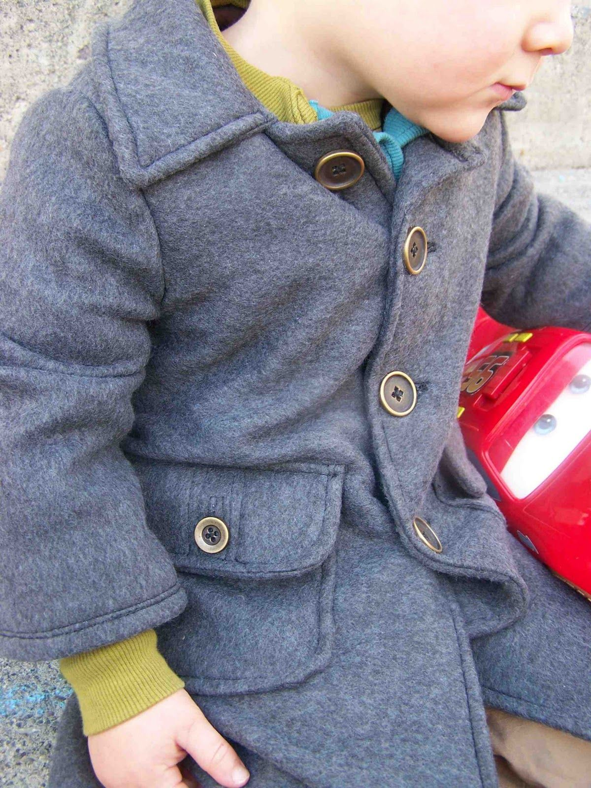 Made by Me. Shared with you.: Toddler's Fleece Dress Coat: Simplicity 2526