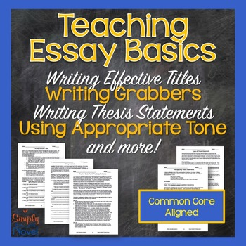 Essays Topics For High School Students Essay Process Lessons  Writing Titles Topic Sentences Thesis Statements Example Of An Essay With A Thesis Statement also Synthesis Essay Ideas Essay Process Lessons  Writing Titles Topic Sentences Thesis  Essay Com In English