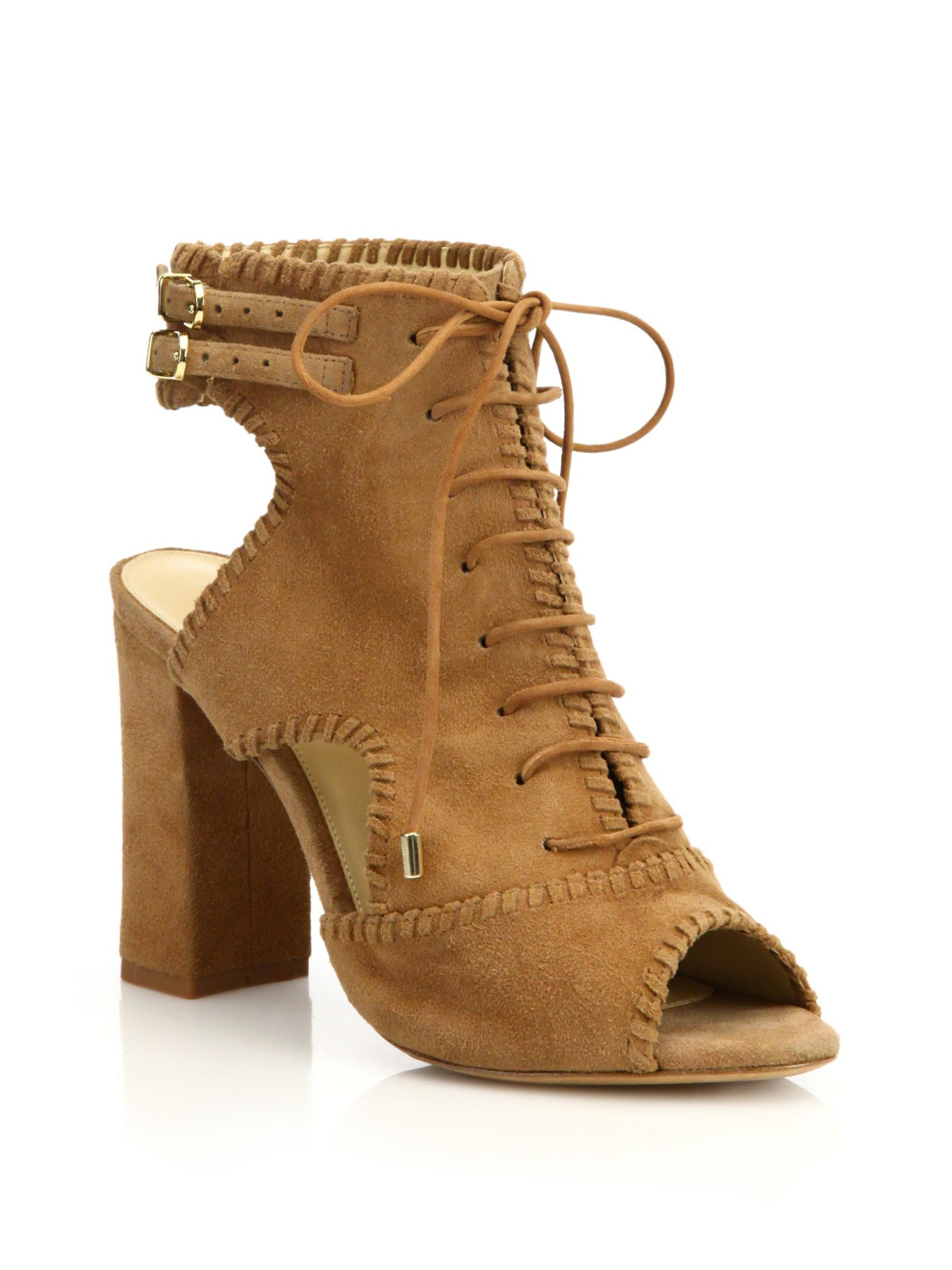 genuine online free shipping cheap real Alexandre Birman Suede Peep-Toe Booties supply cheap price qQcOVCB