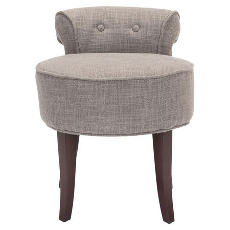 Upholstered Vanity Chair With Birch Wood Framing And A