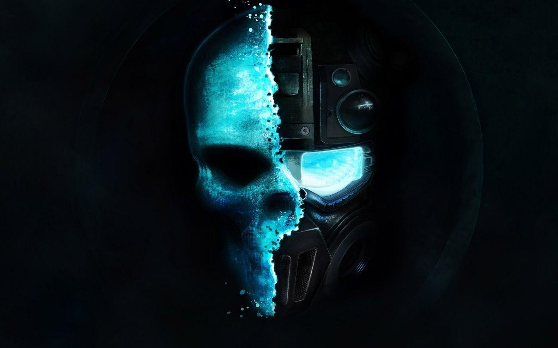 Robot Skull Wallsheets Skull Wallpaper Tom Clancy Ghost Recon