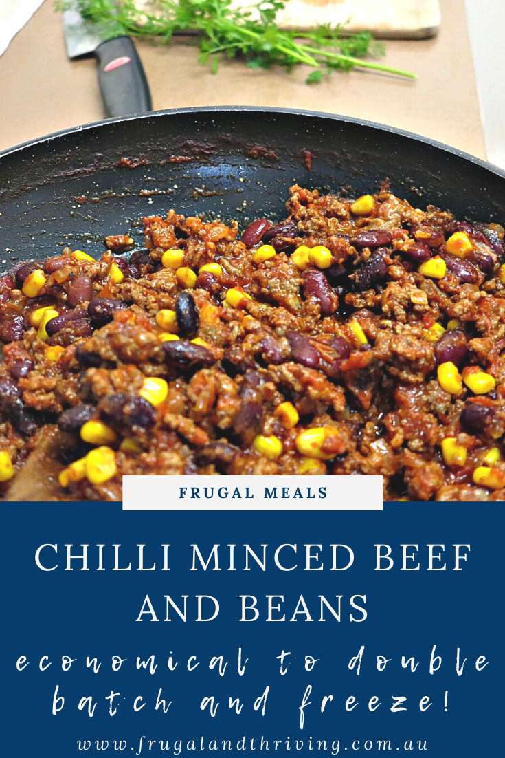 Cheap And Tasty Chilli Mince Recipe Minced Beef And Beans Recipe In 2020 Frugal Recipes Cheap Dinners Cheap Dinner Recipes Mince Recipes