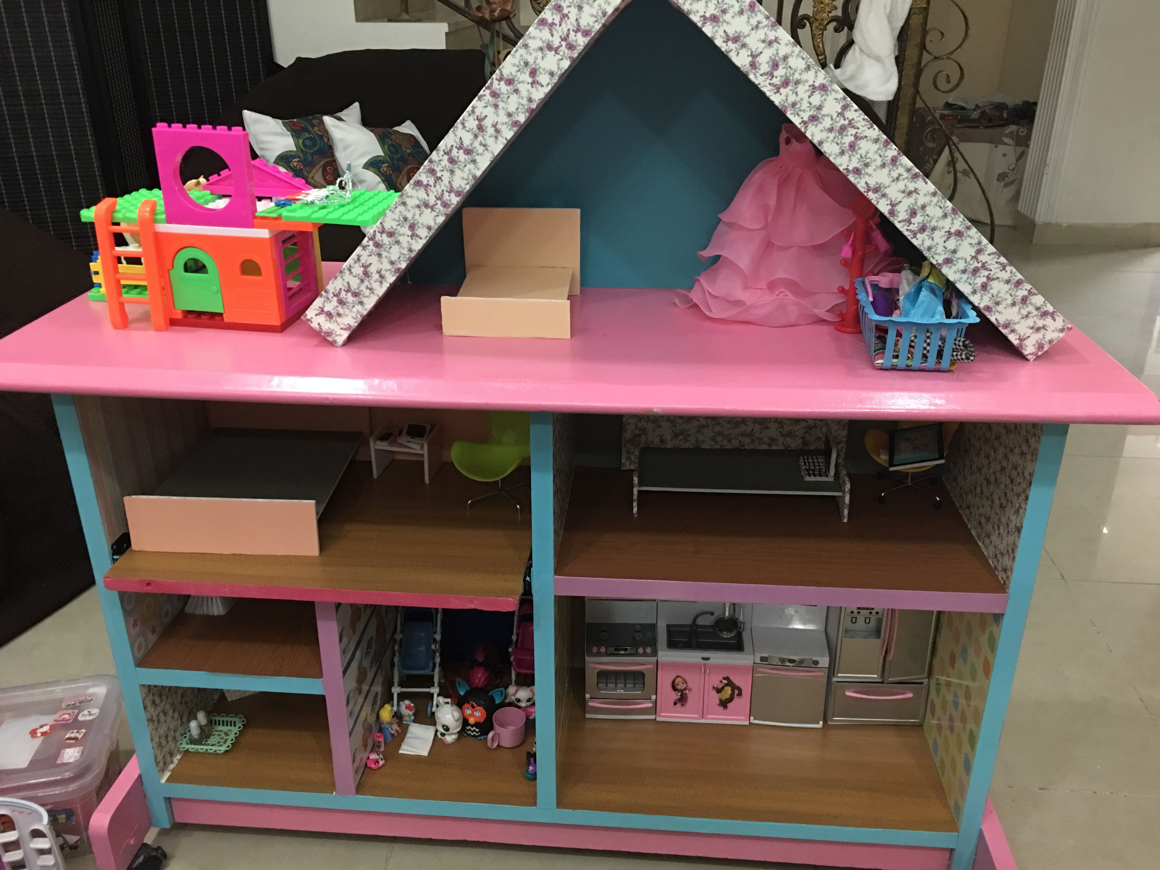 Pin By Dhabia Wageih On Barbie Dream House From Computer Table Barbie Dream House Barbie Dream Toddler Bed