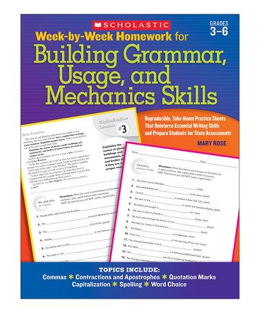 Take A Look At This Week By Week Building Grammar And Mechanics
