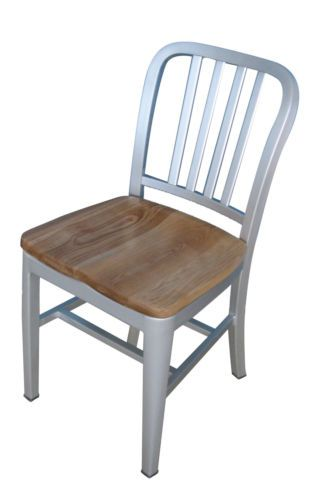 Aluminum Dining Chair With Wood Seat Ebay Dining Chairs Side