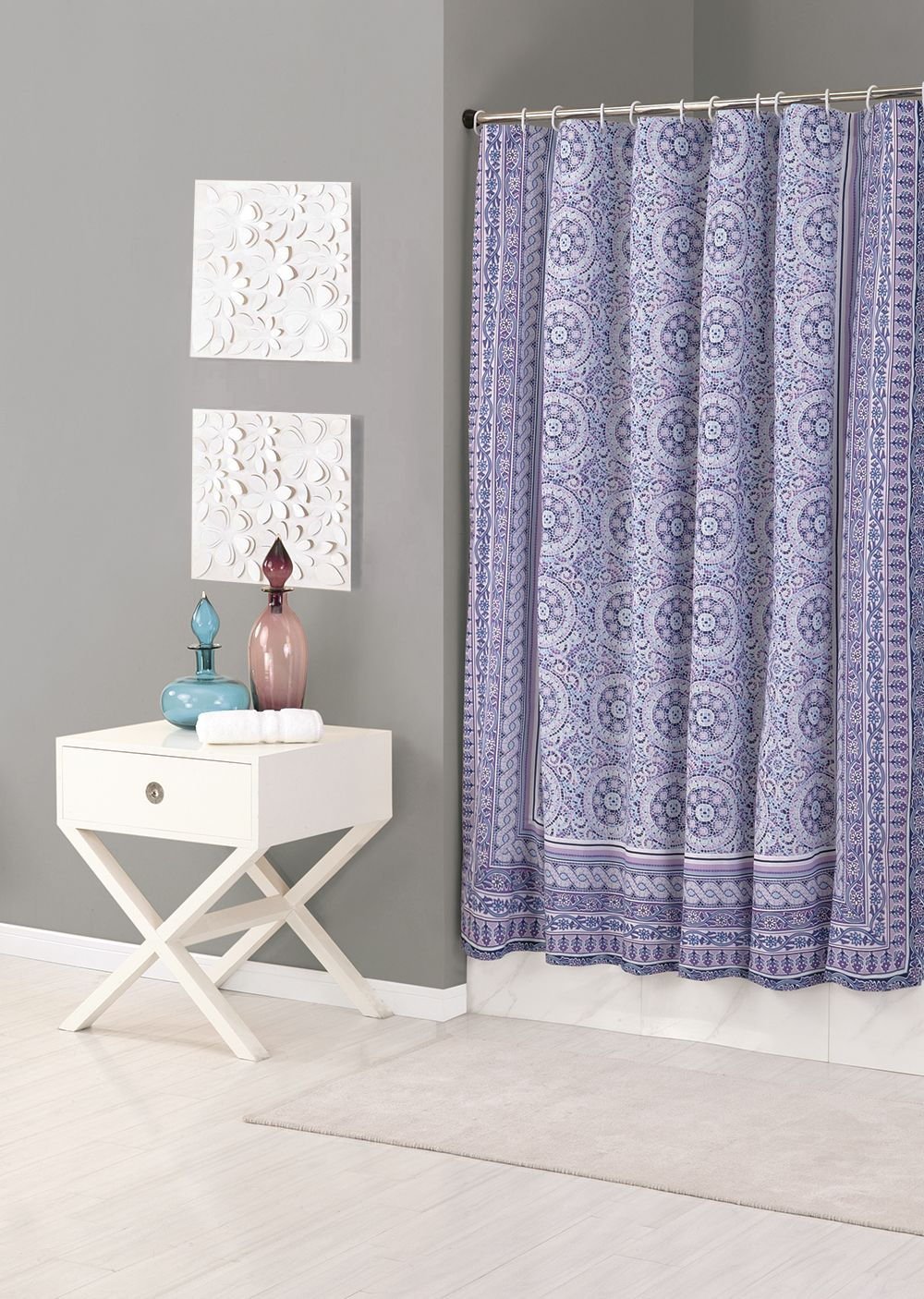 Jessica Simpson Mosaic Shower Curtain Home Curtains Purple