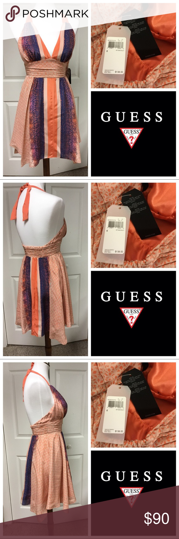 037bcd5f1c2 JUST IN❗️NWT SILK HOT SANDS GUESS BH DRESS This silk dress is a size