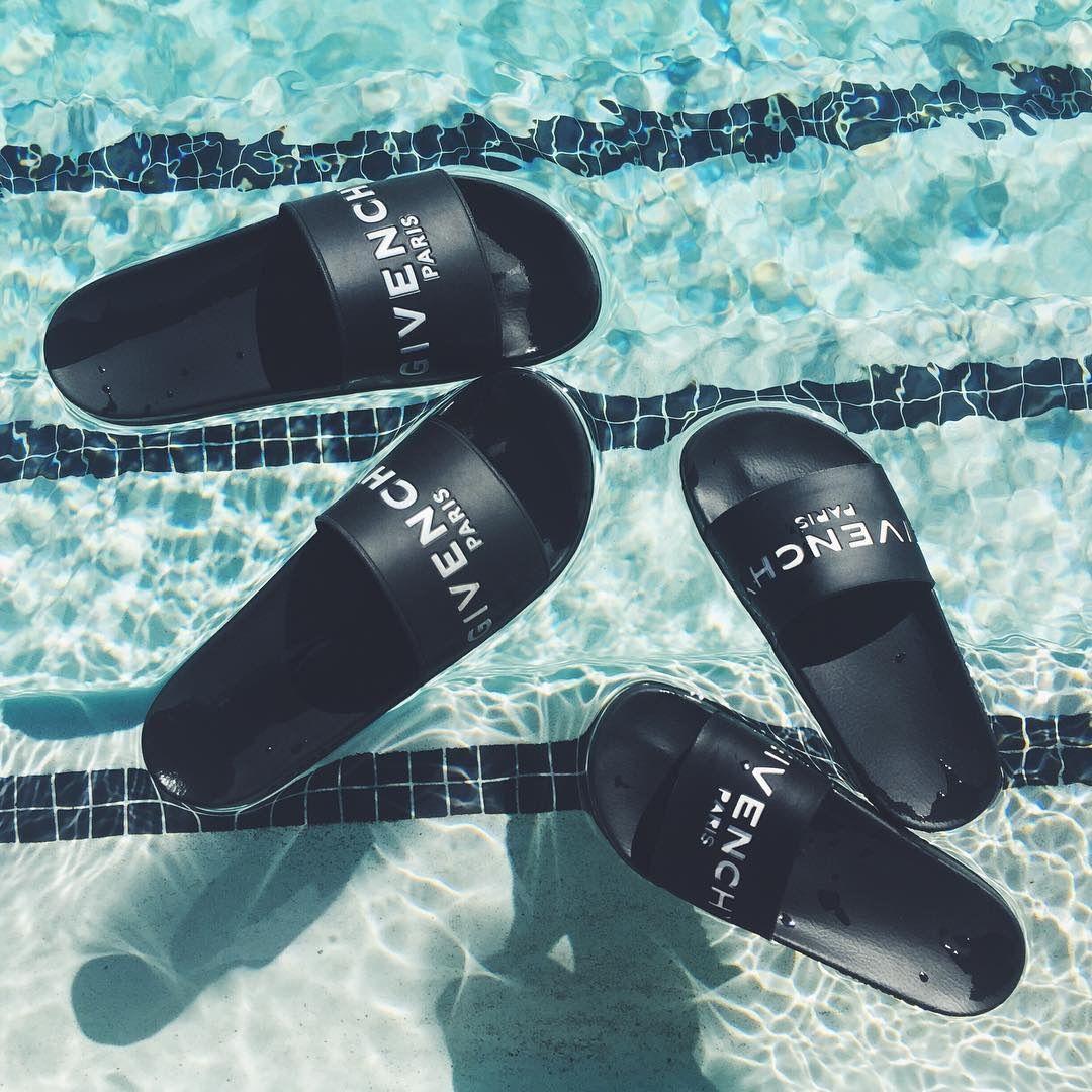promo code 7c29e 0cd0f www.wannabesuburbanrockstar.com Givenchy Pool Slide Sandals
