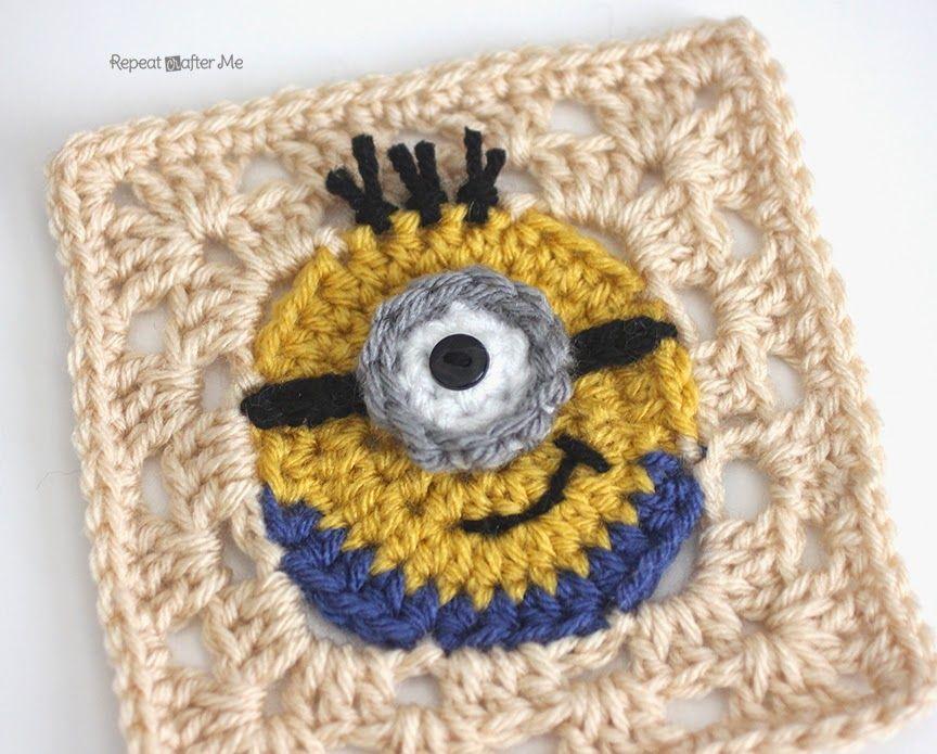 Crochet Minion Granny Squares | Crochet minions, Granny squares and ...