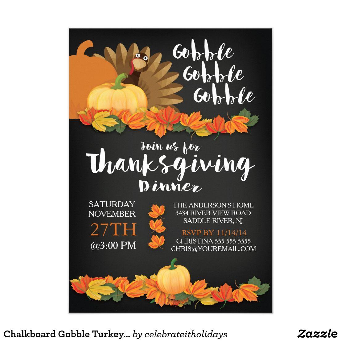 Pin On Thanksgiving Dinner Invitations