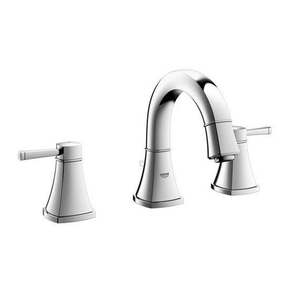 GROHE Grandera 8 in. Widespread 2-Handle Low Arc Bathroom Faucet in ...