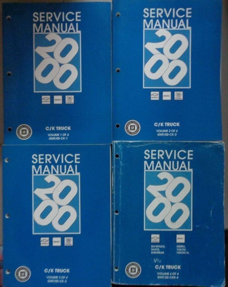 f2502f1e8812794b3c7dc5e0bf35ba38 2000 chevrolet gmc ck silverado sierra shop service manual original