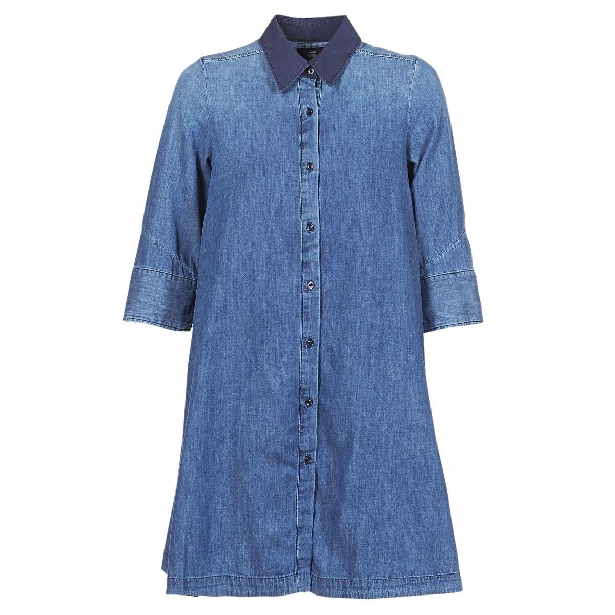 san francisco b2cec 2951f Abito corto donna G-Star Raw DELINE DRESS 3/4 Blu ...