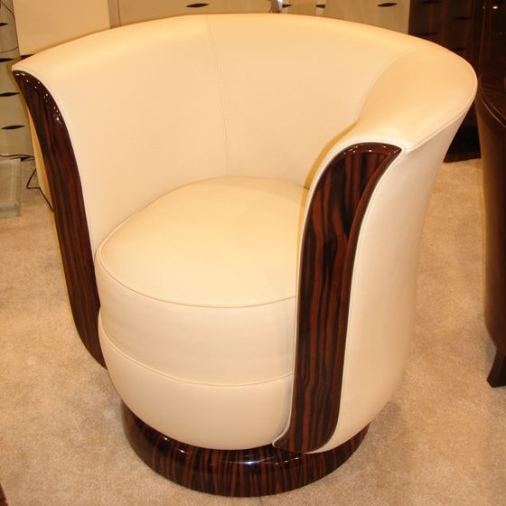 Mod le anthony fauteuil 1930 art d co pivotant b ne for Chaise bridge art deco