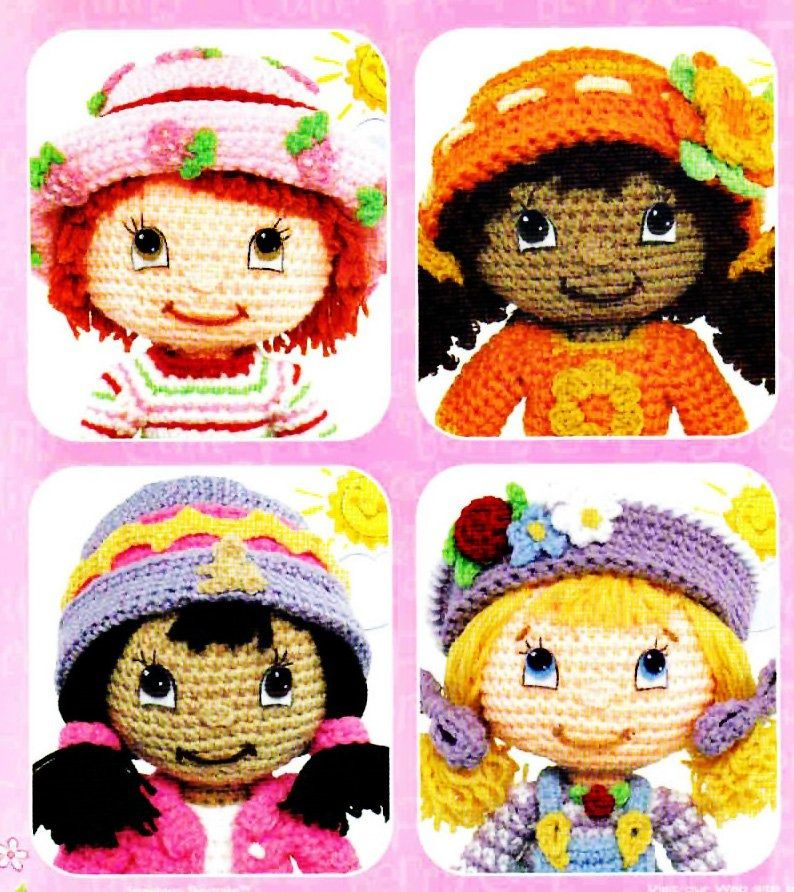 Crochet strawberry shortcake PDF Patterns | amigurumi | Pinterest ...