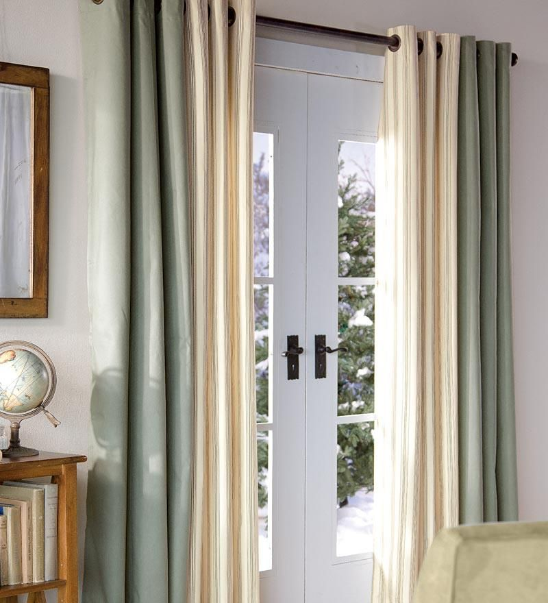 Interior Nice Curtain For Sliding Gl Door Patio Curtains Character Insulation Easy To Install Good Picture Designs White Color