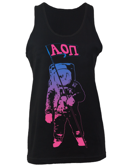Alpha Omicron Pi Out Of This World Tank by Adam Block Design   Custom Greek Apparel & Sorority Clothes   www.adamblockdesign.com