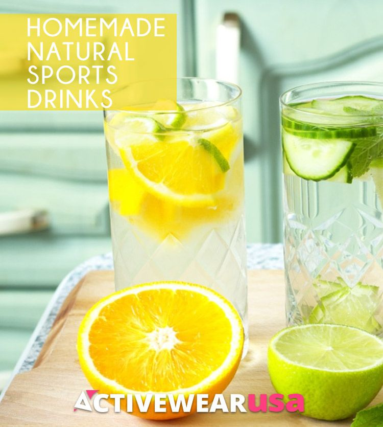 Homemade Natural Sports Drinks Sports drink, Drinks