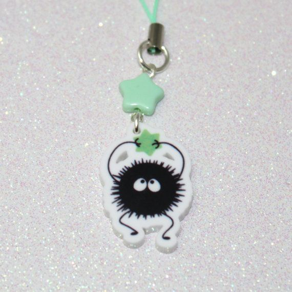 double sided ghibli spirited away totoro soot sprite konpeito phone