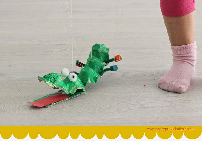 CreaKids: cocodrilo marioneta | reciclaje | Pinterest | Cocodrilos ...