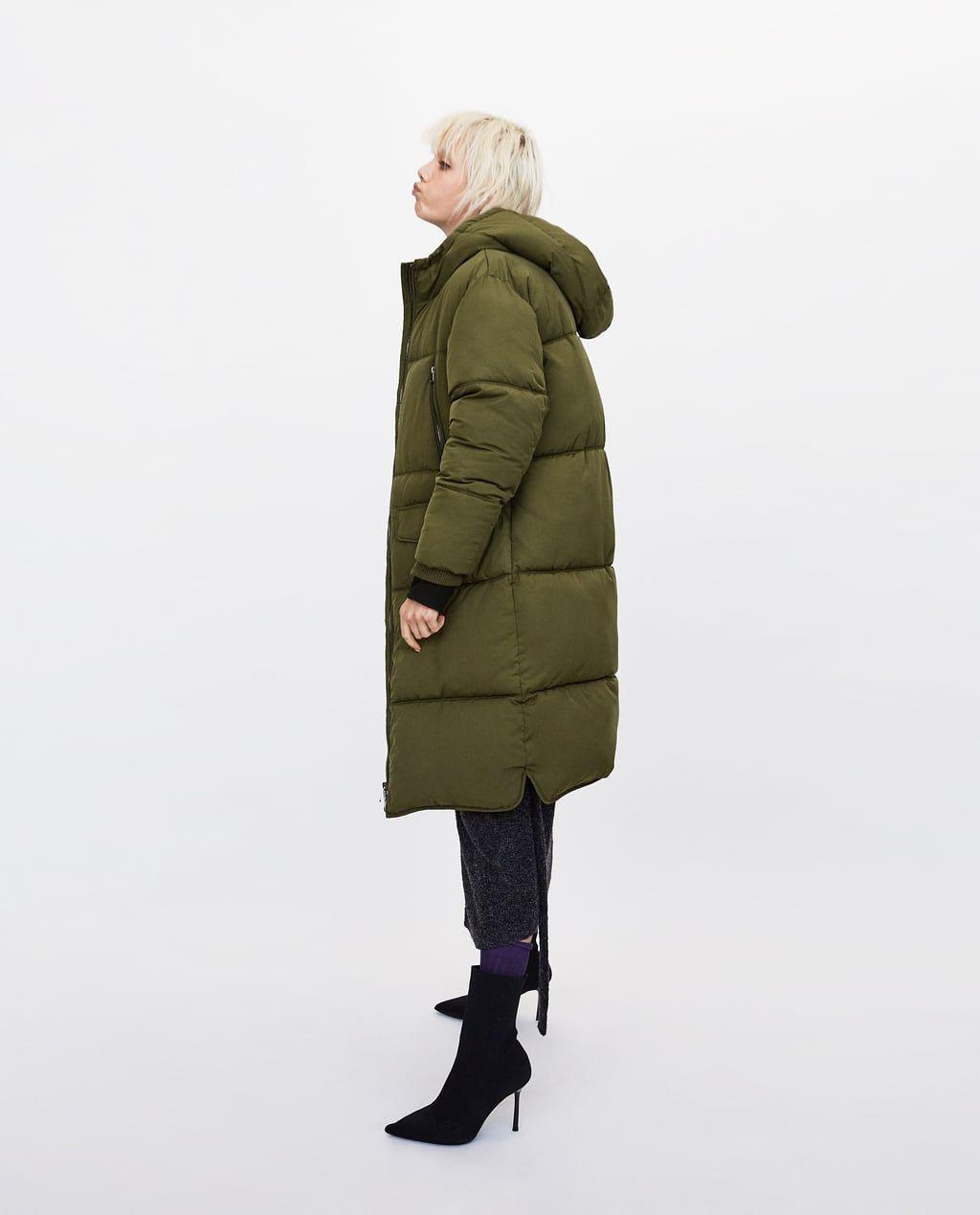 Image 4 Of Long Oversized Puffer Coat From Zara Oversized Puffer Oversized Puffer Coat Puffer Coat [ 1269 x 1024 Pixel ]