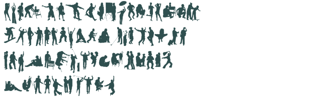 Human Silhouettes Free Seven font download free (truetype)