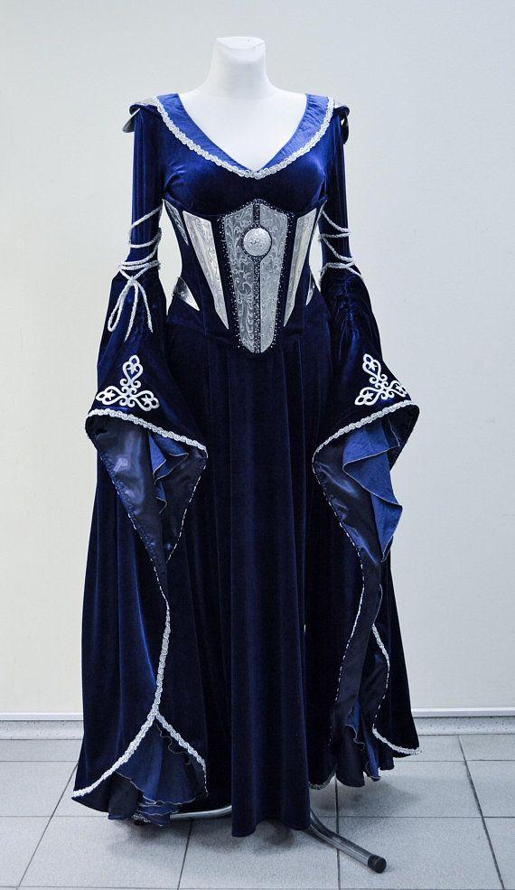 648427ba35 Midnight Blue Elven Costume Elven Dress Corset made to order in 2019 ...