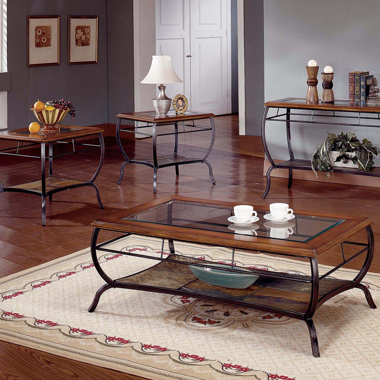 Steve Silver Loretta Cherry Coffee Table Set Coffee Table Sets At Hayneedle Like The Coffee Tab Coffee Table Living Room Decor Furniture Cherry Coffee Table [ 1600 x 1600 Pixel ]