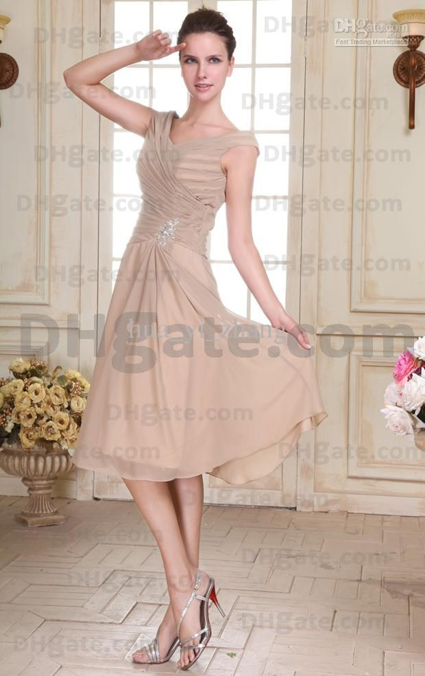 Mother of the bride tea length dresses macys for Macy wedding dresses mother of the bride