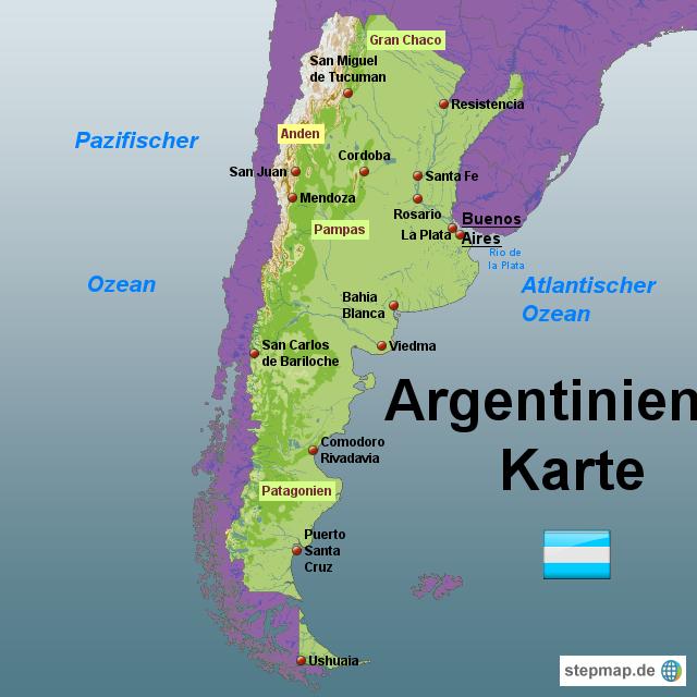 Patagonien Highlights Karte.Argentinien Karte 02 Argentinien Argentinien Karte Argentinien