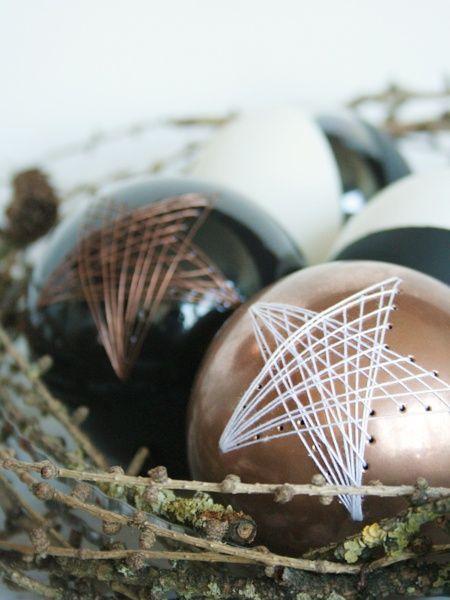 Weihnachtskugel mit DIY Sternen-Kit - Handmade Kultur