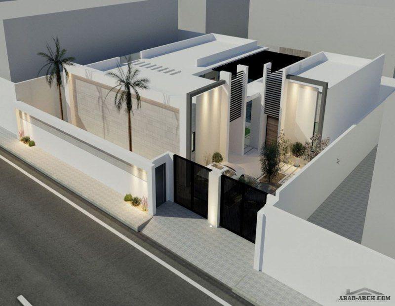 تصميم شاليه مودرن بالمدينة 304 متر مربع من أعمال المهندس يحيى زنقوطي Modern House Exterior Villa Design House Plans