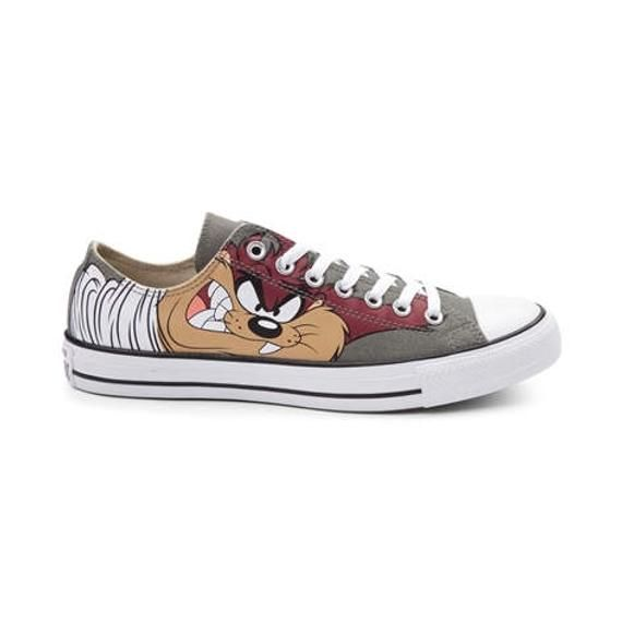 ade5435ac4a2 Looney Tunes Converse Kids Children Retro Cartoon Taz Devil Olive Gray Low  Top w  Swarovski Crystal