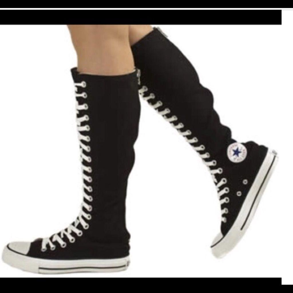 black long converse