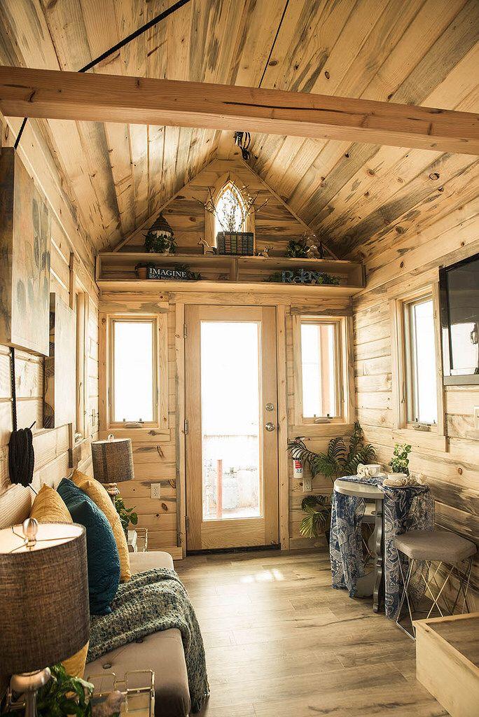 tumbleweed tiny house elm with beetle kill interior - Tumbleweed Tiny House Interior