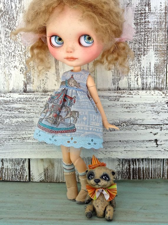 Blythe doll dress  Vintage Circus  OOAK outfit by Marinart on Etsy, $27.00