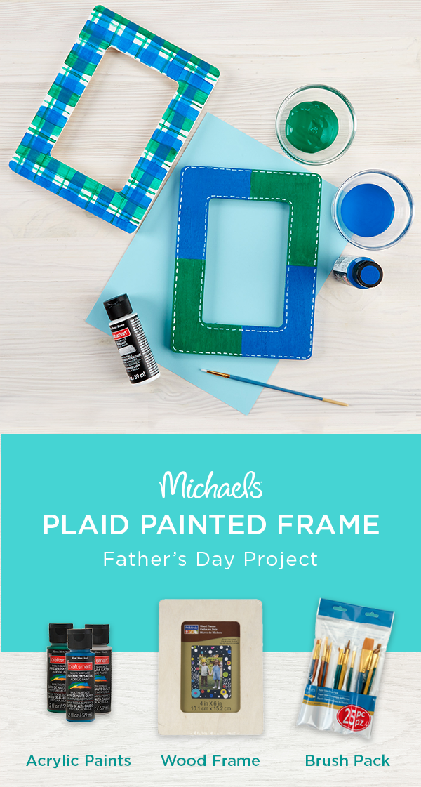Need A Quick Father S Day Gift Idea Make Your Own Picture Frame Makeitwithmichaels Picture Frame Crafts Do It Yourself Crafts Painting For Kids