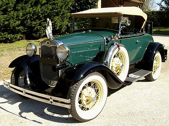 ford a roadster 1930 ford a de luxe roadster ann u00e9e 1930  carrosserie d u00e9capotable  couleur verte