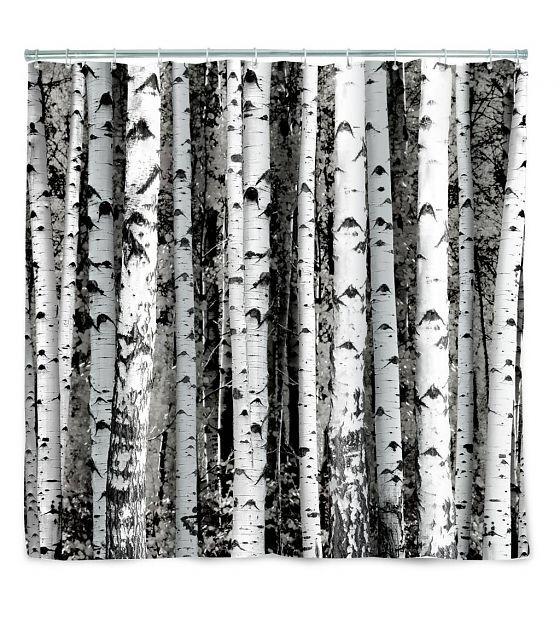 LEF collections Douchegordijn Birch bomen 180x200cm - wonenmetlef.nl