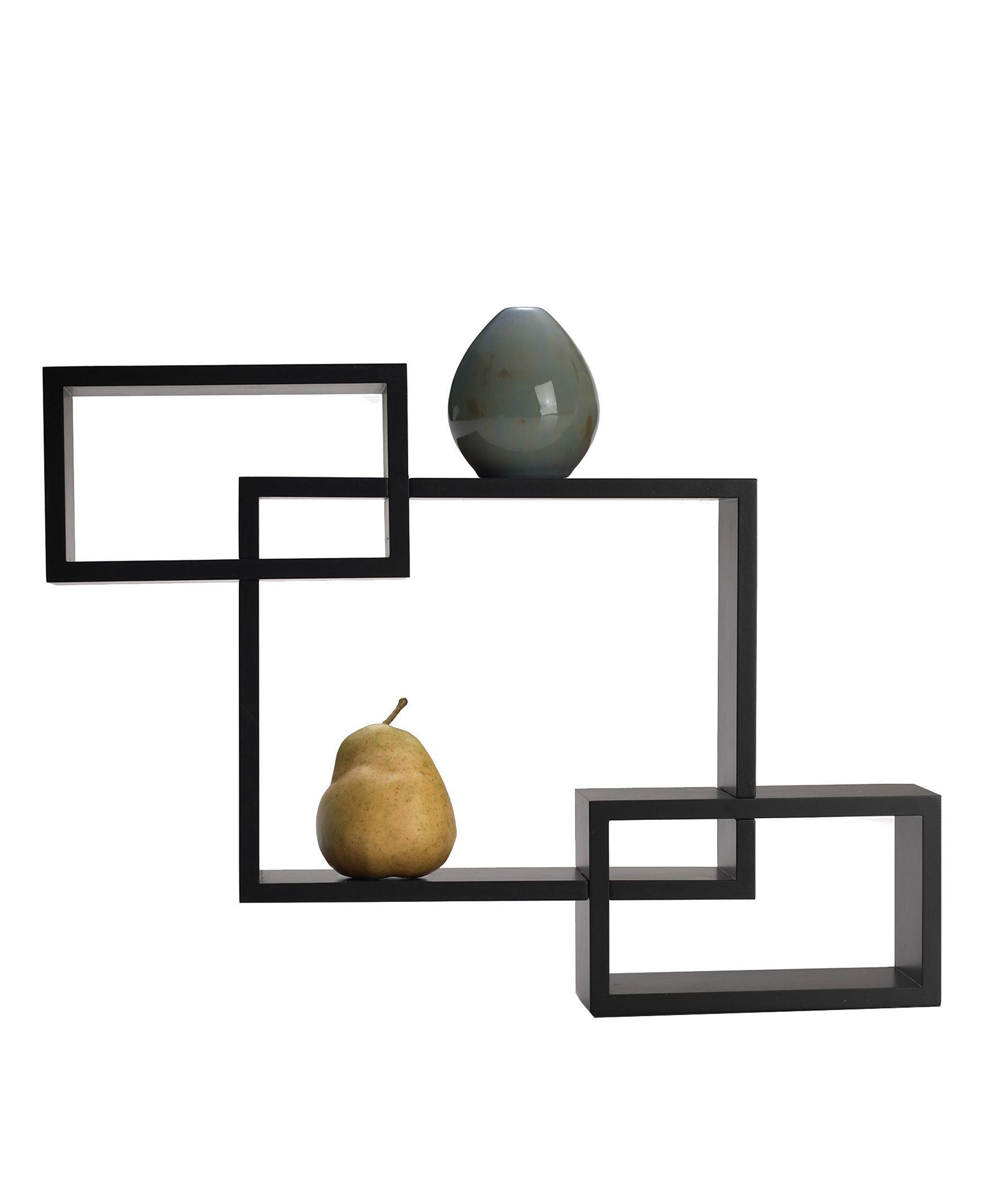 Melannco Home Decor, Espresso Overlapping Cube Wall